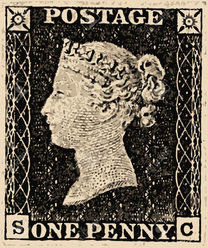 the world's first stamp the penny black