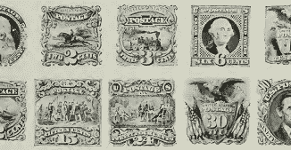 US postage stamps Series of 1869 preview