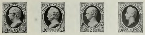 us postage stamps 1873-1884 15-24-30-90 cent