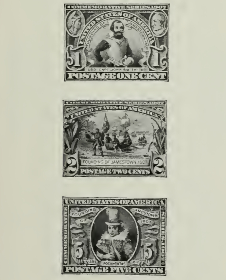Jamestown Commemorative Stamps of 1907
