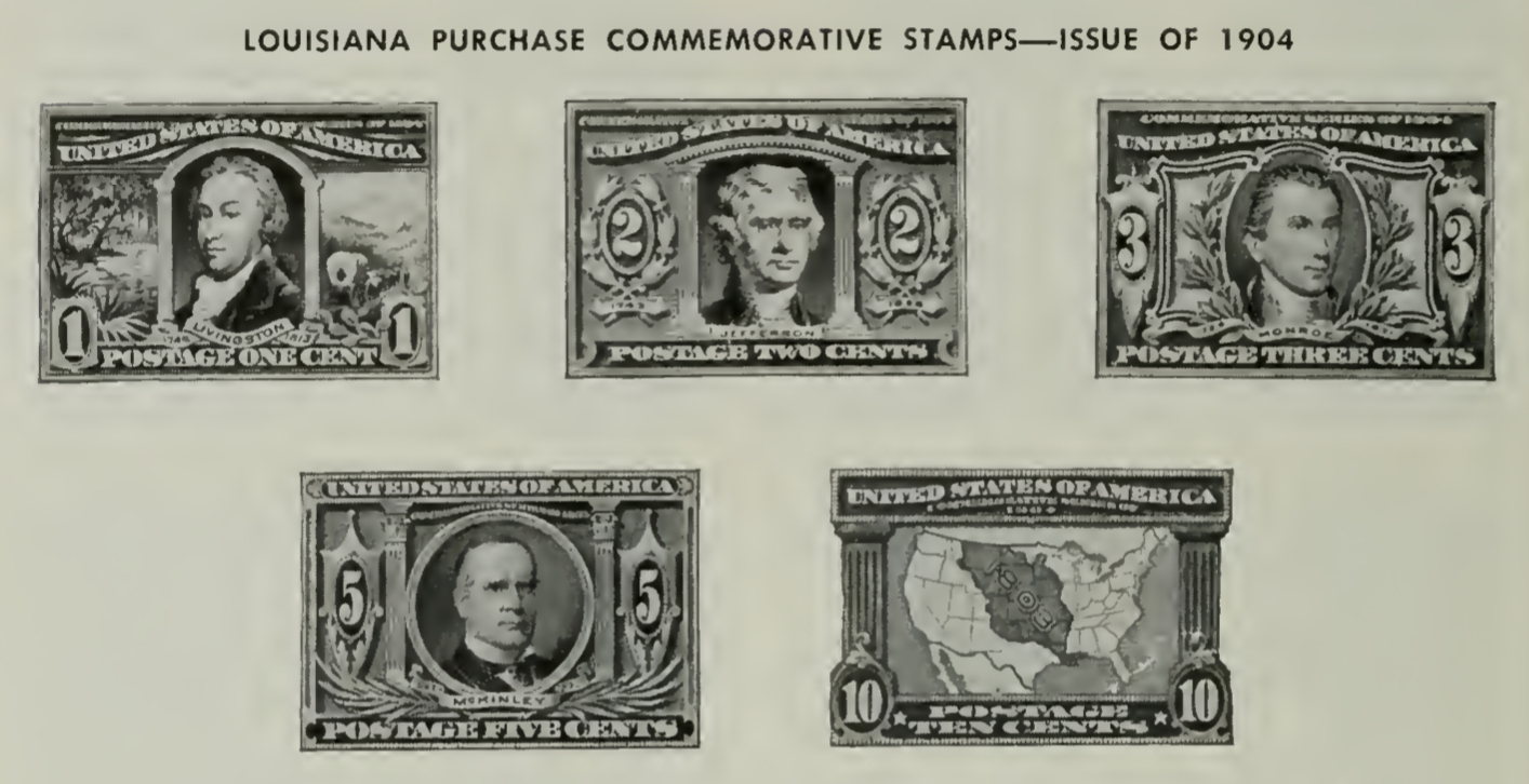 Louisiana Purchase Commemorative Stamps of 1904