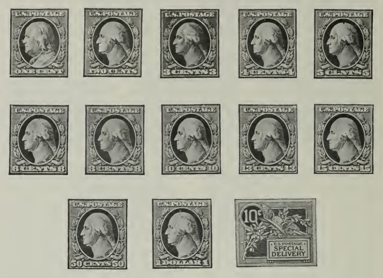 Ordinary Postage Stamps of 1908-9