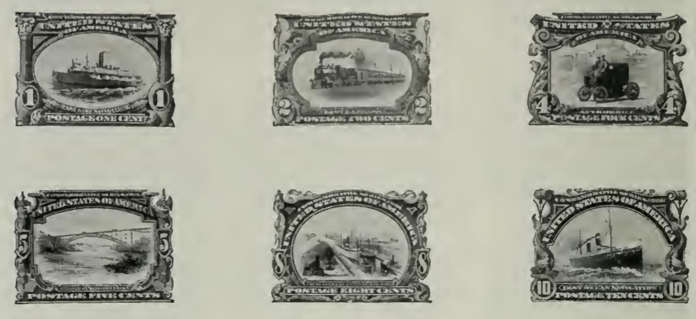 Pan-American Stamps of 1901