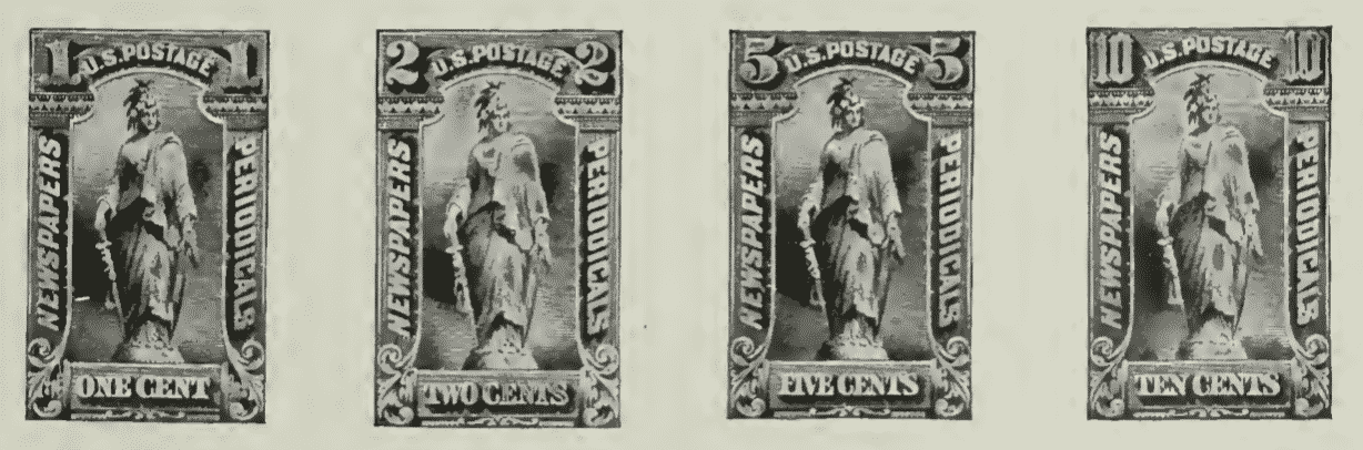 US Newspaper and Periodical Stamps of 1895 - Photo 1
