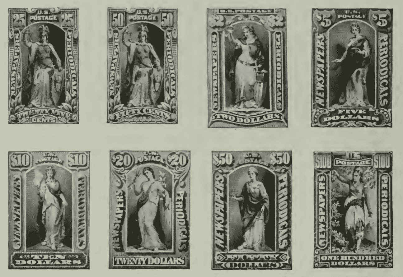 US Newspaper and Periodical Stamps of 1895 - Photo 2