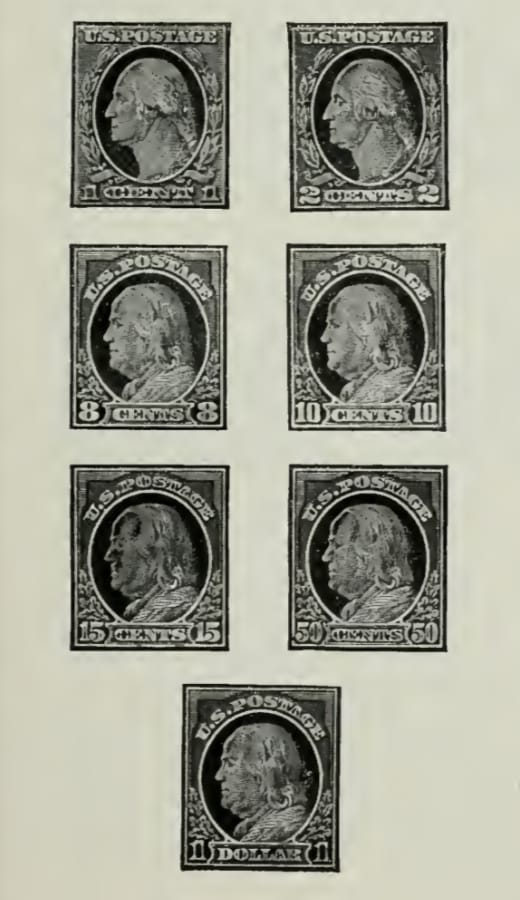 Ordinary US Postage Stamps of 1912