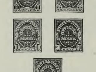 US Postal Savings Official Stamps 1911